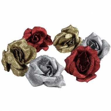 Kerst roosjes met clip