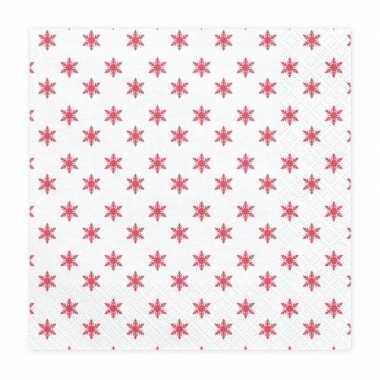 Kerst servetten met sterretjes 20 stuks 33 cm