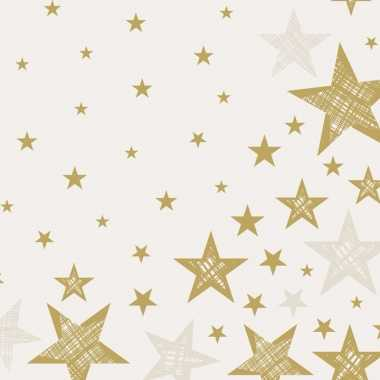 Kerst servetten shining star cream