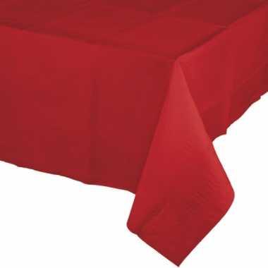 Kerst thema tafelkleed rood papier 274 x 137 cm