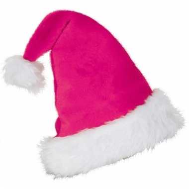 Kerst verkleedmuts roze