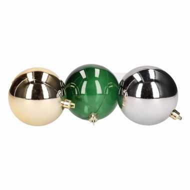 Kerstbal pakket goud zilver en groen