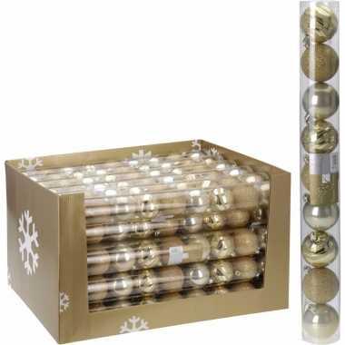 Kerstballen pakket goud 6 cm