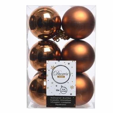 Kerstboom ballen koper 6 cm