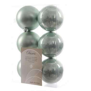 Kerstboom decoratie kerstballen mix mint 12 stuks