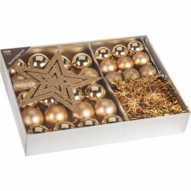 Kerstboom decoratie set 33-delig goud