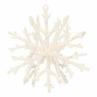 Kerstboom decoratie sneeuwvlok 18 cm