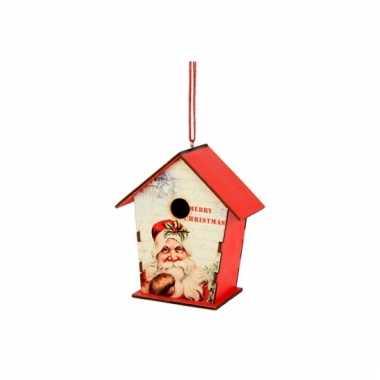Kerstboom hanger vogelhuisje 12 cm