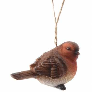Kerstboom hangertje roodborstje vogels type 1 7 cm
