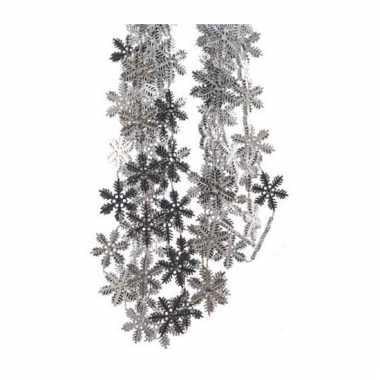 Kerstboom slinger zilveren sneeuwvlok