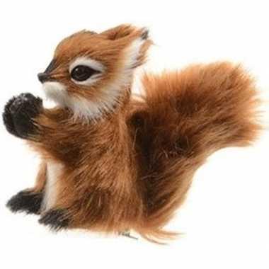 Kerstboomhanger/kersthanger clip dieren bruine eekhoorns 8 cm pluche