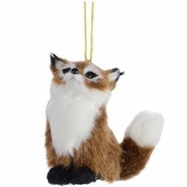 Kerstboomhanger/kersthanger dieren bruine vossen 8 cm pluche