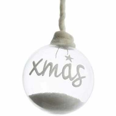Kerstboomhanger/kersthanger doorzichtige kerstbal 10 cm xmas van glas