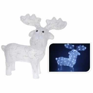 kerstdecoratie verlichte rendier 62 cm