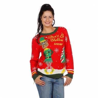Kersttrui Voor Vrouwen.Kerstmis Trui Yellow Snow Voor Vrouwen Pchoofdstraat Nl