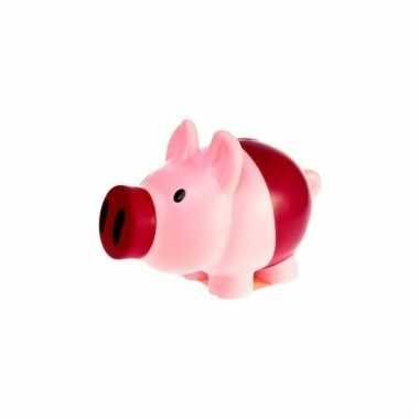 Kinder spaarpot varkentje roze/paars