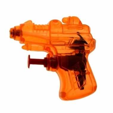 Kinder speelgoed mini waterpistool oranje