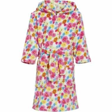 Kinderbadjas met bloemen
