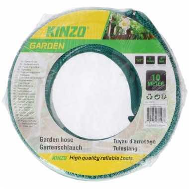 Kinzo tuinslang groen zwart 10 meter