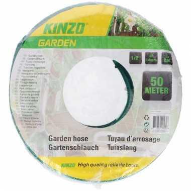 Kinzo tuinslang groen zwart 50 meter