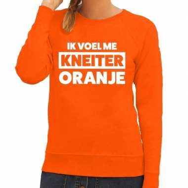 Kneiter oranje koningsdag sweater dames