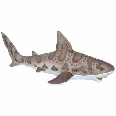 Knuffel luipaard haai grijs 60 cm knuffels kopen