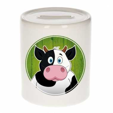 Koeien spaarpot van keramiek 9 cm