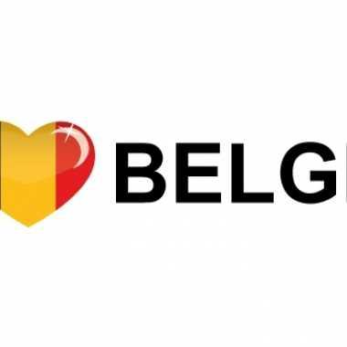 Koffer stickers i love belgie
