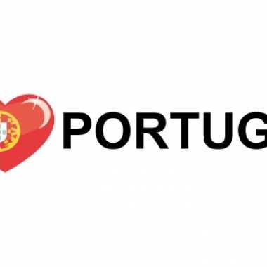 Koffer stickers i love portugal