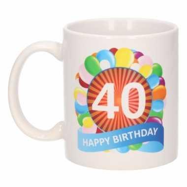 thema 40 jaar Koffiemok ballon thema 40 jaar 300 ml | Pchoofdstraat.nl thema 40 jaar