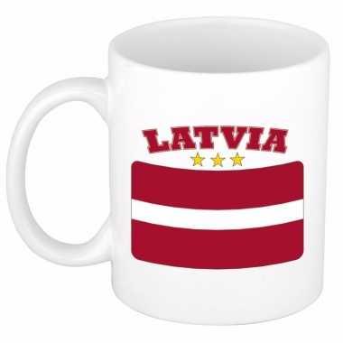 Koffiemok vlag letland 300 ml