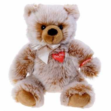 Kraam kado knuffel zittende bruine beer 35 cm