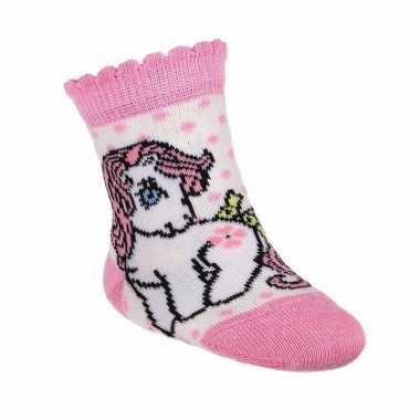 Kraamkado witte my little pony sokken
