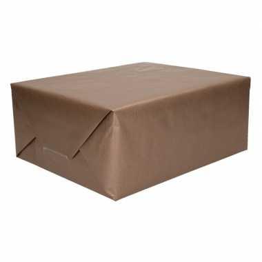 Kraft cadeaupapier bruin 70 x 200 cm