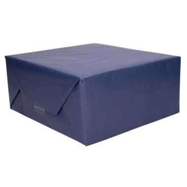 Kraft cadeaupapier donkerblauw 70 x 200 cm