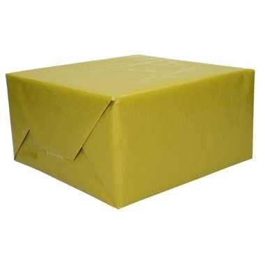 Kraft cadeaupapier groen 70 x 200 cm