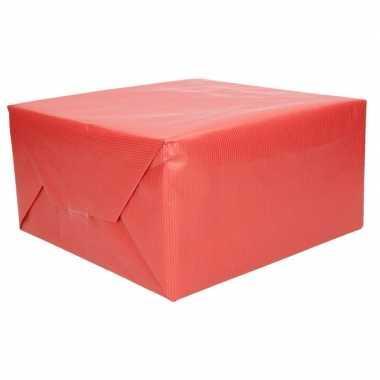Kraft cadeaupapier rood 70 x 200 cm