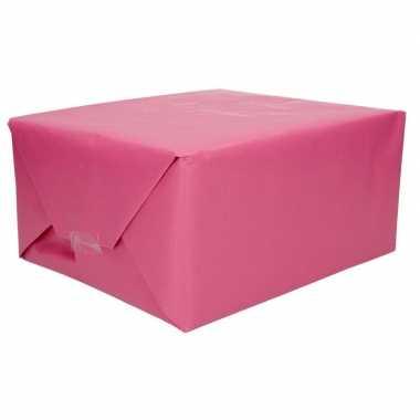 Kraft cadeaupapier roze 70 x 200 cm