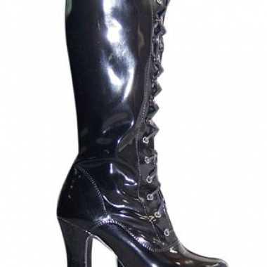 Laarzen van zwart lak volwassenen
