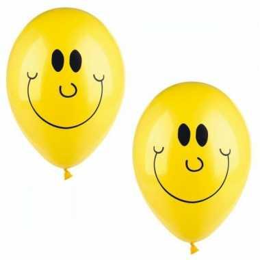 Lachende emoticon ballonnen 10 stuks