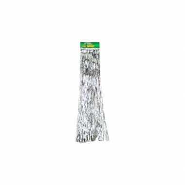 Lametta zilver glitter slinger 500 cm