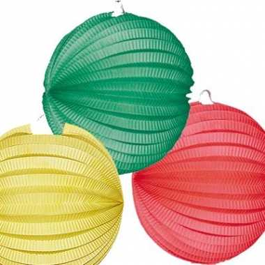Lampionnen pakket geel groen en rood