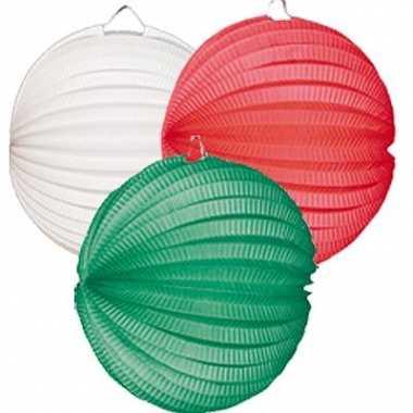 Lampionnen setje groen-wit-rood