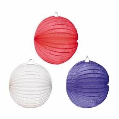 Lampionnen setje rood-wit-blauw