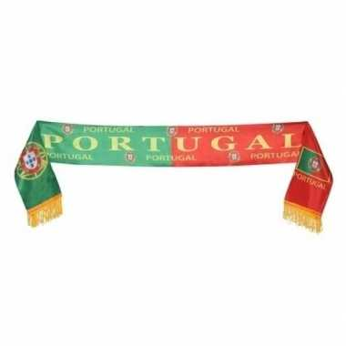 Landen supporter sjaal portugal 130 cm