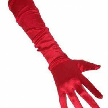 Lange handschoenen rood