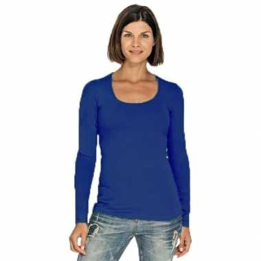 Lange mouwen kobalt dames shirt