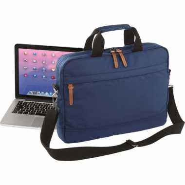 Laptop schoudertas navy 15 inch