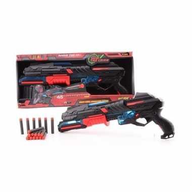 Large rood speelgoed pistool 50 cm