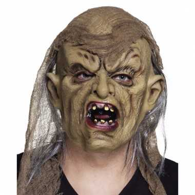 Latex creepy zombie masker
